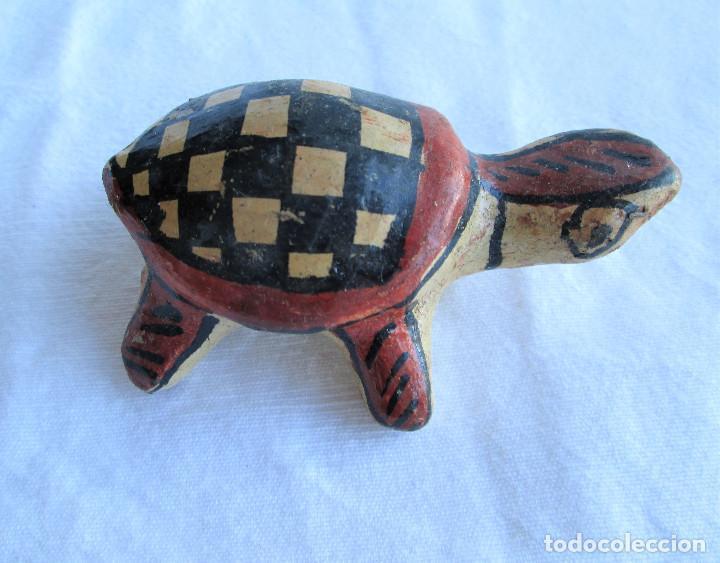 Antigüedades: TORTUGA BEREBER ARTESANAL EN BARRO PINTADA A MANO , ÚNICA, DE COLECCIÓN - Foto 3 - 235969260