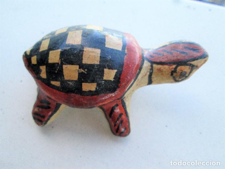 Antigüedades: TORTUGA BEREBER ARTESANAL EN BARRO PINTADA A MANO , ÚNICA, DE COLECCIÓN - Foto 5 - 235969260