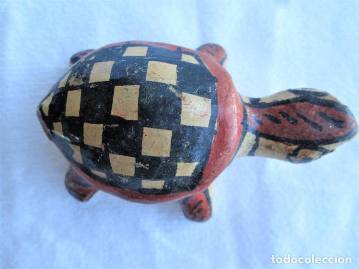 Antigüedades: TORTUGA BEREBER ARTESANAL EN BARRO PINTADA A MANO , ÚNICA, DE COLECCIÓN - Foto 2 - 235969260