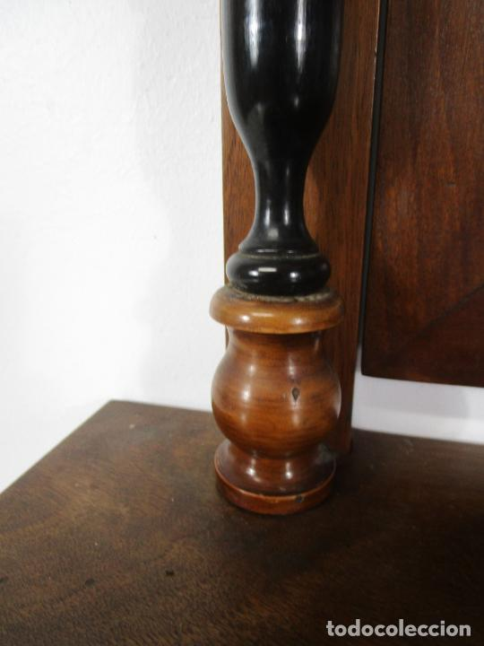 Antigüedades: Bonito Tocador de Sobremesa, Cómoda - Peinador - Espejo - Madera de Nogal - con Cajón - S. XIX - Foto 3 - 235969590