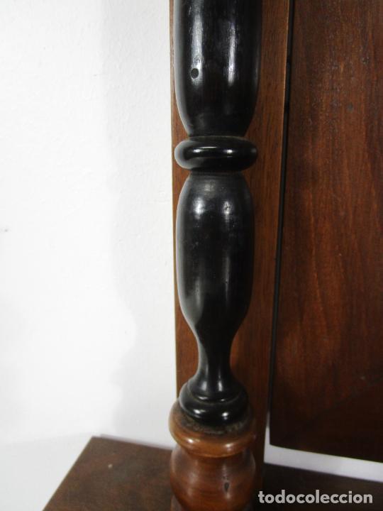 Antigüedades: Bonito Tocador de Sobremesa, Cómoda - Peinador - Espejo - Madera de Nogal - con Cajón - S. XIX - Foto 4 - 235969590