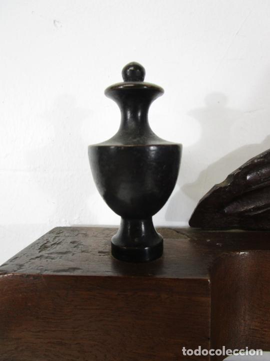 Antigüedades: Bonito Tocador de Sobremesa, Cómoda - Peinador - Espejo - Madera de Nogal - con Cajón - S. XIX - Foto 7 - 235969590