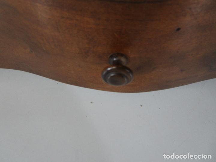 Antigüedades: Bonito Tocador de Sobremesa, Cómoda - Peinador - Espejo - Madera de Nogal - con Cajón - S. XIX - Foto 12 - 235969590