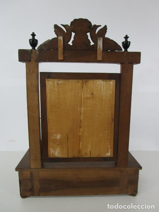 Antigüedades: Bonito Tocador de Sobremesa, Cómoda - Peinador - Espejo - Madera de Nogal - con Cajón - S. XIX - Foto 18 - 235969590