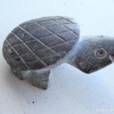 Antigüedades: TORTUGA MEXICANA DE PIEDRA ARTESANAL EN UNA SOLA PIEZA , ÚNICA, DE COLECCIÓN. Lote 235969945