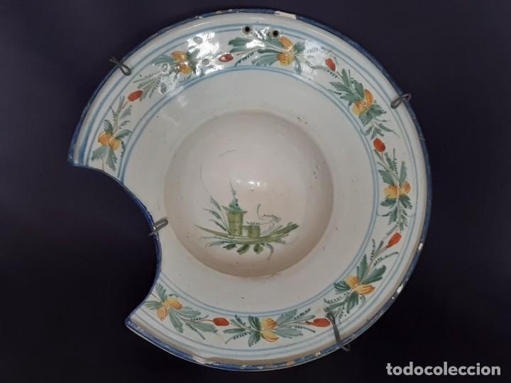 BARBERA. BACÍA. RIBESALBES. CERÁMICA. SIGLO XVII-XIX. (Antigüedades - Porcelanas y Cerámicas - Ribesalbes)
