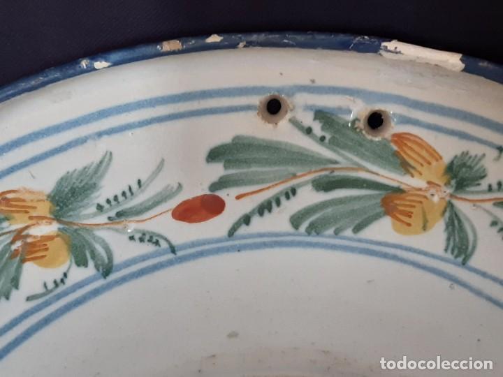 Antigüedades: Barbera. Bacía. Ribesalbes. Cerámica. Siglo XVII-XIX. - Foto 7 - 235987260