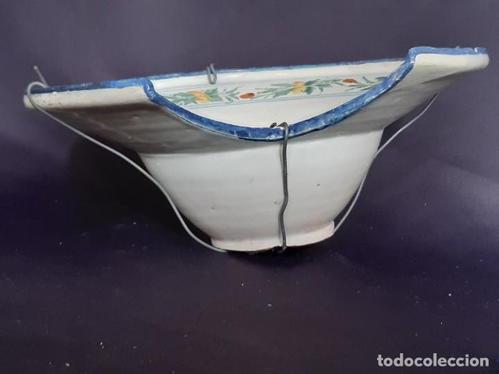 Antigüedades: Barbera. Bacía. Ribesalbes. Cerámica. Siglo XVII-XIX. - Foto 13 - 235987260