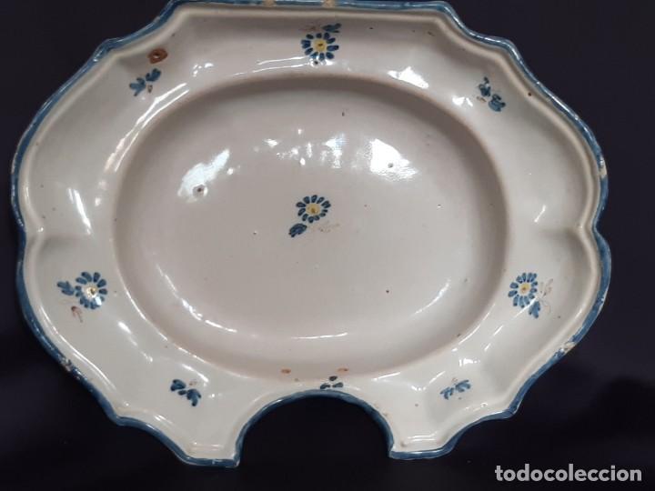 BARBERA. BACÍA. ALCORA. CERÁMICA. SIGLO XVIII-XIX. (Antigüedades - Porcelanas y Cerámicas - Alcora)