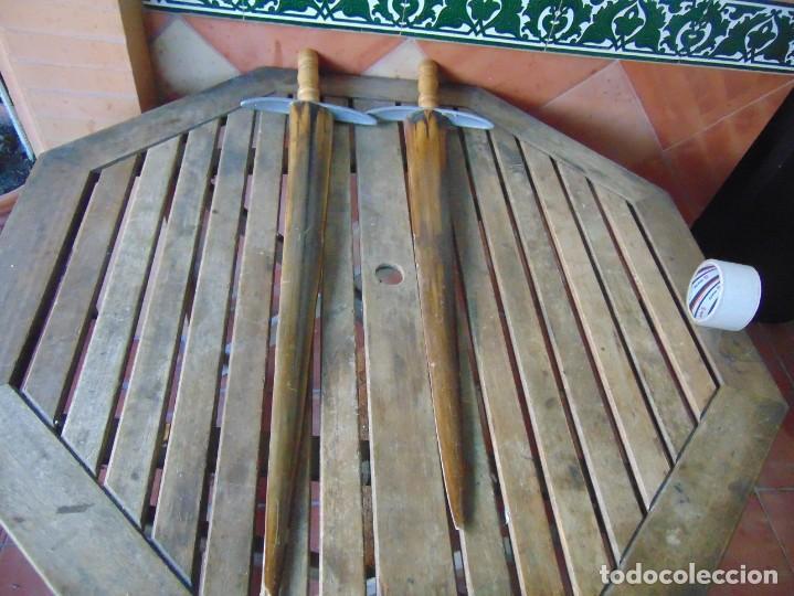 Antigüedades: 2 ESPADAS PARA DECORACIÓN REALIZADAS CON LA PUNTA PICO DE PEZ ESPADA - Foto 10 - 235999735