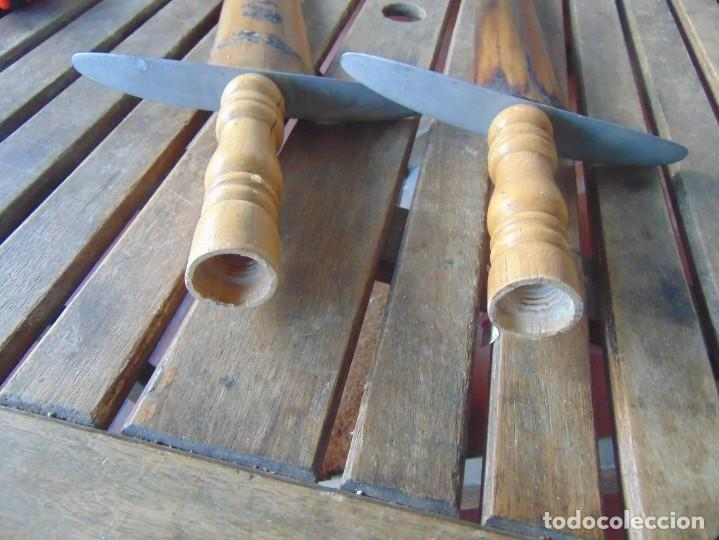 Antigüedades: 2 ESPADAS PARA DECORACIÓN REALIZADAS CON LA PUNTA PICO DE PEZ ESPADA - Foto 20 - 235999735