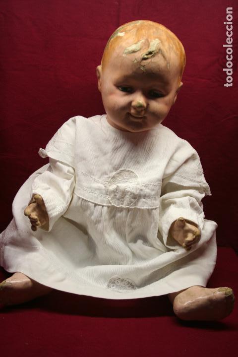 ANTIGUO VESTIDITO ALGODÓN PIQUÉ CON APLICACIONES, MEDIDAS EN FOTOS (Antigüedades - Moda y Complementos - Infantil)