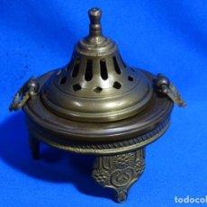 Antigüedades: BRASERO (12X11) DE BRONCE EN TRES PIEZAS.. Lote 236001300