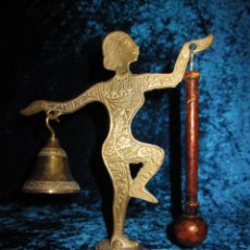 Antigüedades: ANTIGUO LLAMADOR TÍBET BAILARINA ORIENTAL INDIA HINDÚ BRONCE RITUAL MEDITACIÓN. Lote 236006965
