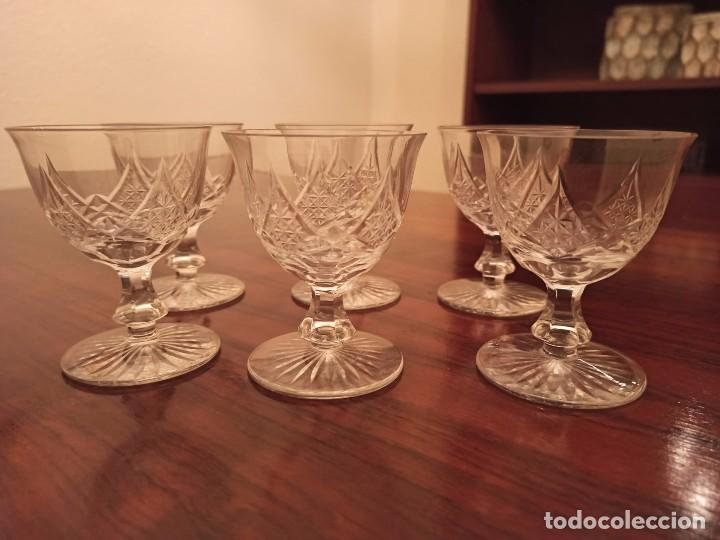 6 COPAS DE LICOR CRISTAL DE BOHEMIA TALLADO (Antigüedades - Cristal y Vidrio - Bohemia)