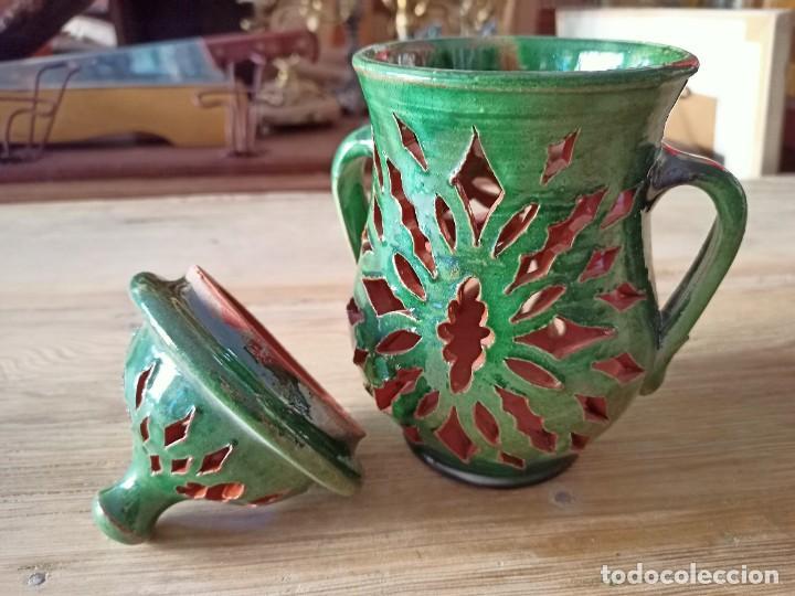 Antigüedades: Ajero de cerámica de Úbeda - Foto 3 - 236023365