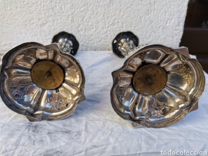 Antigüedades: Candeleros de plata - Foto 2 - 236026285