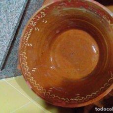 Antigüedades: ANTIGUO LEBRILLO DE BARRO COCIDO- 50 X 20CM. Lote 236058435