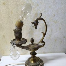 Antigüedades: LAMPARA BRONCE DE DRAGÓN Y LÁMPARA MAGICA. Lote 236074755