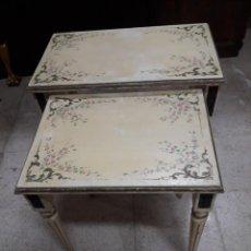 Antigüedades: MESA PAREJA DE EMBUTIR. Lote 236105930