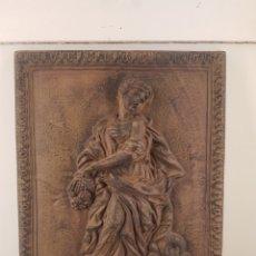 Antigüedades: PLACA DECORATIVA DE HIERRO. Lote 236140455