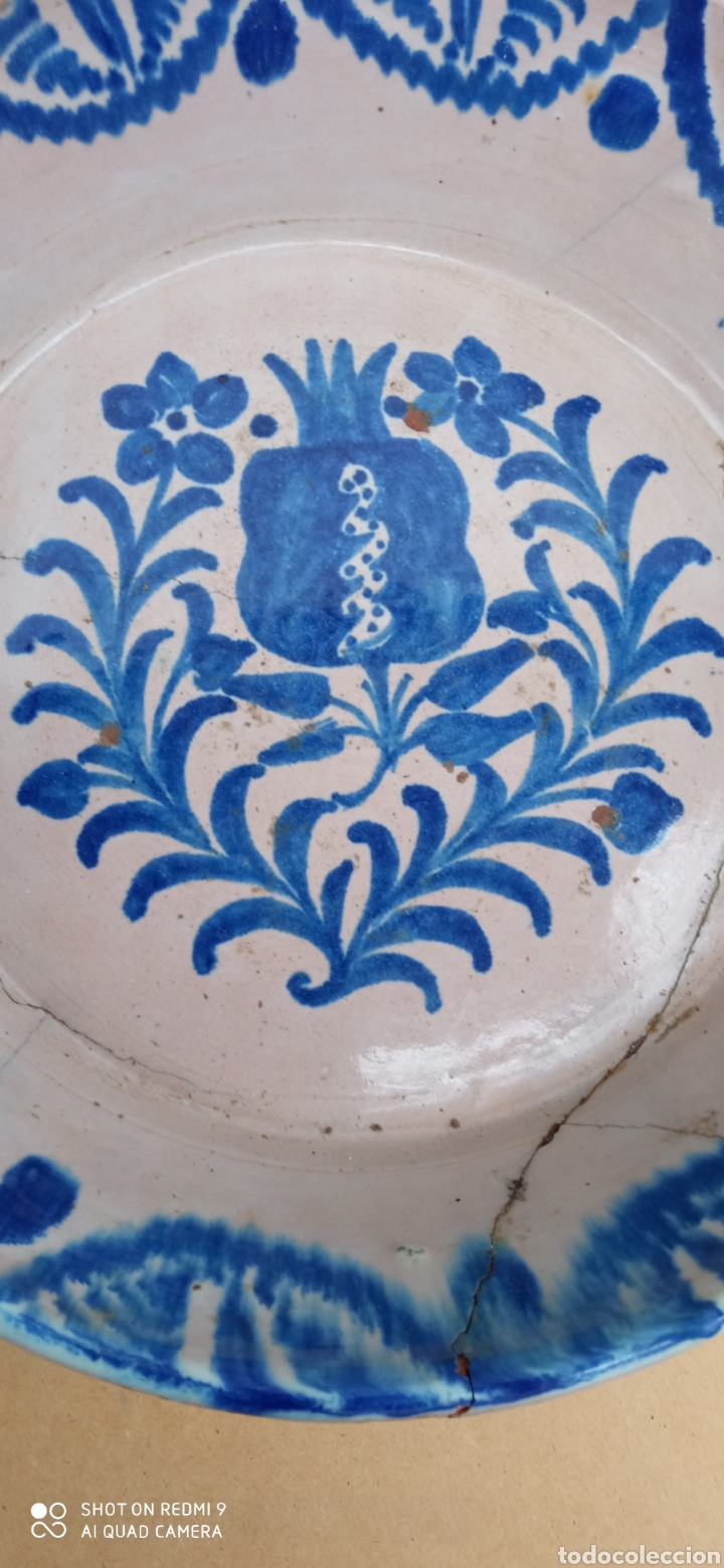 Antigüedades: Lebrillo de fajalauza siglo XiX - Foto 2 - 236154520