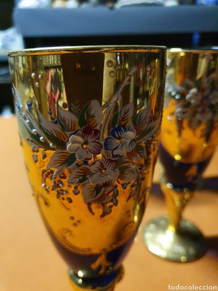 Antigüedades: Juego de 5 copas de Murano - Foto 2 - 236174640