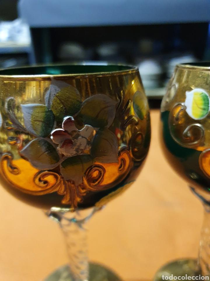 Antigüedades: Par de copas de Murano - Foto 2 - 236175130
