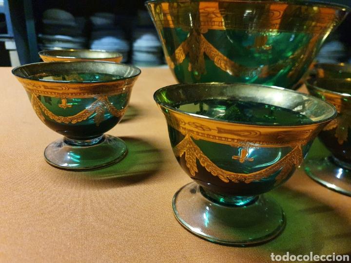 Antigüedades: Juego de Ponche de Murano - Foto 2 - 236175525