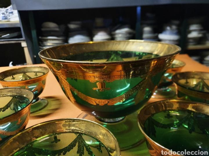 Antigüedades: Juego de Ponche de Murano - Foto 3 - 236175525