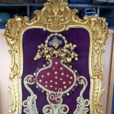 Antigüedades: MARCO CORNUCOPIA DORADA EN SIMIL DE MADERA EN PAN DE ORO. Lote 236180625