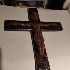 Antigüedades: CRISTO CRUCIFICADO 65X45. Lote 236188025