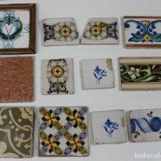 Antigüedades: LOTE DE ANTIGUOS AZULEJOS, ALGUNOS MODERNISTAS. Lote 236195110