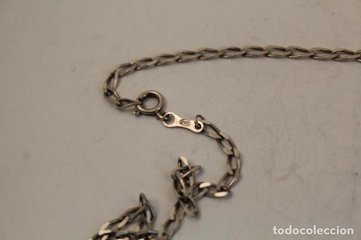 Antigüedades: collar cadena colgante crucifijo en plata de ley 925 - Foto 5 - 268866399