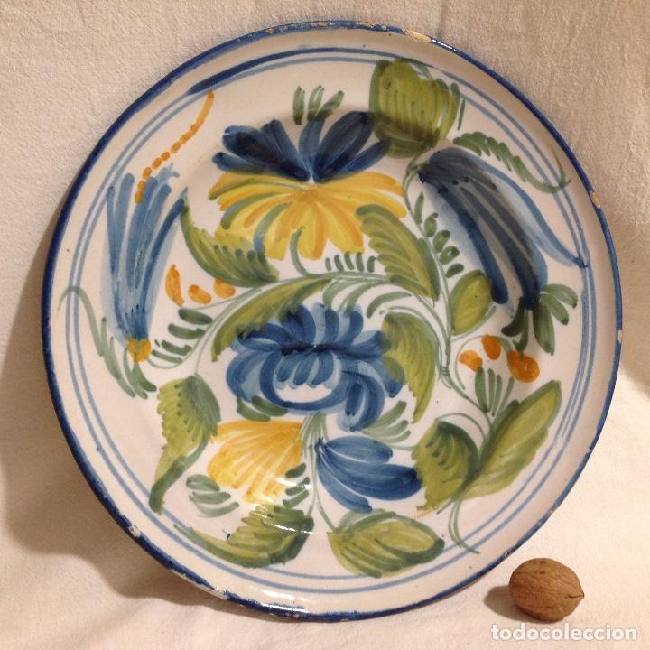 PLAT RIBESALBES, S. XIX O ANTERIOR. (Antigüedades - Porcelanas y Cerámicas - Ribesalbes)