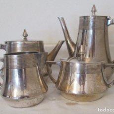Antigüedades: JUEGO DE CAFÉ Y TE WMF ALREDEDOR DE 1930. ART DECÓ. METAL BAÑADO EN PLATA, CUATRO PIEZAS. Lote 236207310