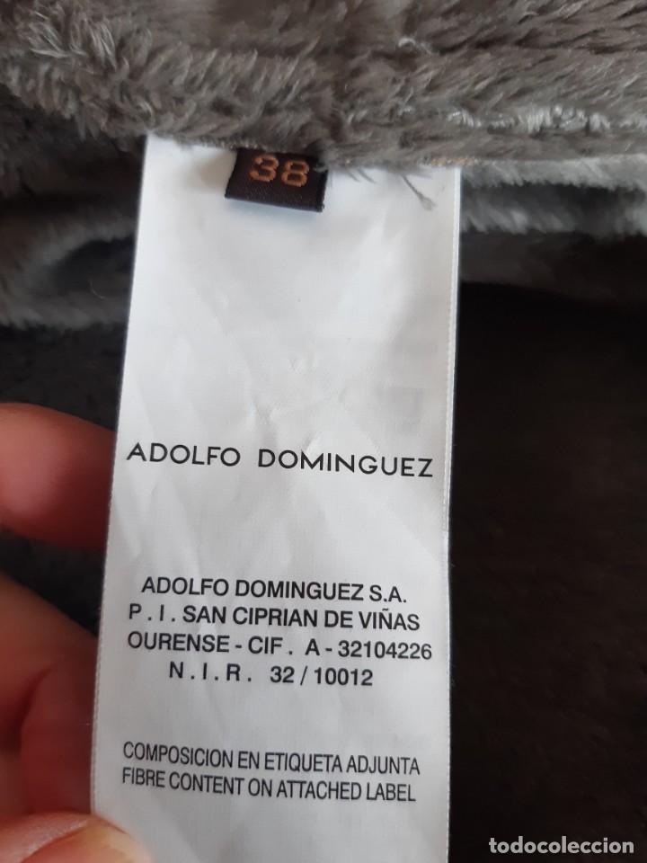 Antigüedades: BONITO ABRIGO GRIS DE ADOLFO DOMINGUEZ. TALLA 38. - Foto 10 - 236222175