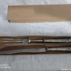 Antigüedades: CONJUNTO TENEDOR Y CUCHILLO. Lote 236228140