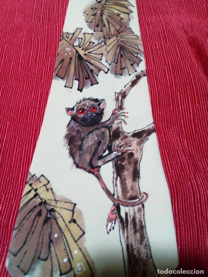 Antigüedades: corbata artesanal pintada a mano - Foto 5 - 233616340