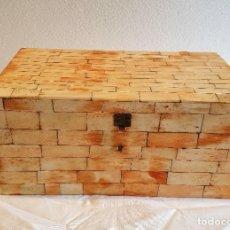 Antigüedades: CAJA JOYERO DE HUESO. Lote 236297065
