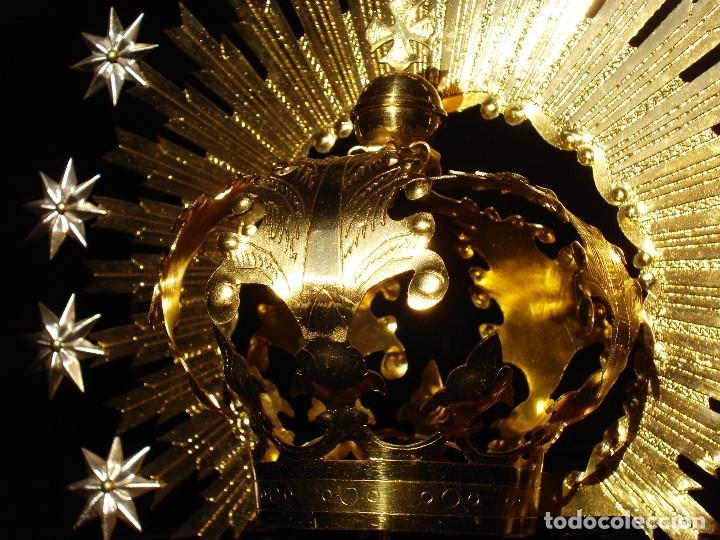 Antigüedades: CORONA IMPERIAL CON RÁFAGAS Y ESTRELLAS - Foto 2 - 236316975