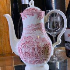 Antigüedades: CAFETERA DE PORCELANA INGLESA. Lote 236320365