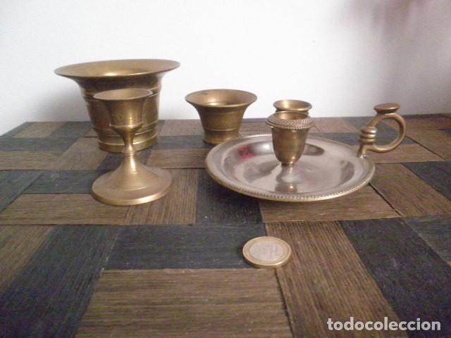PALMATORIA Y OTROS (Antigüedades - Hogar y Decoración - Portavelas Antiguas)