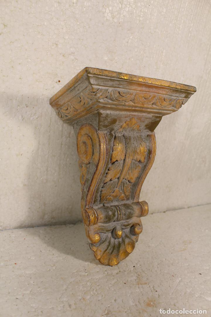 MENSULA, REPISA DE MADERA (Antigüedades - Muebles Antiguos - Ménsulas Antiguas)