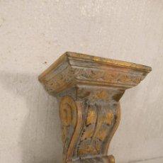 Antigüedades: MENSULA, REPISA DE MADERA. Lote 236433430