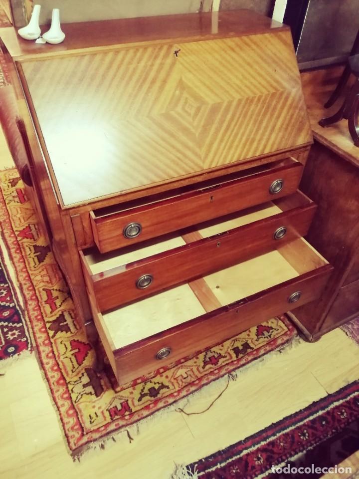 Antigüedades: Bureau inglés de caoba - Foto 4 - 236434930