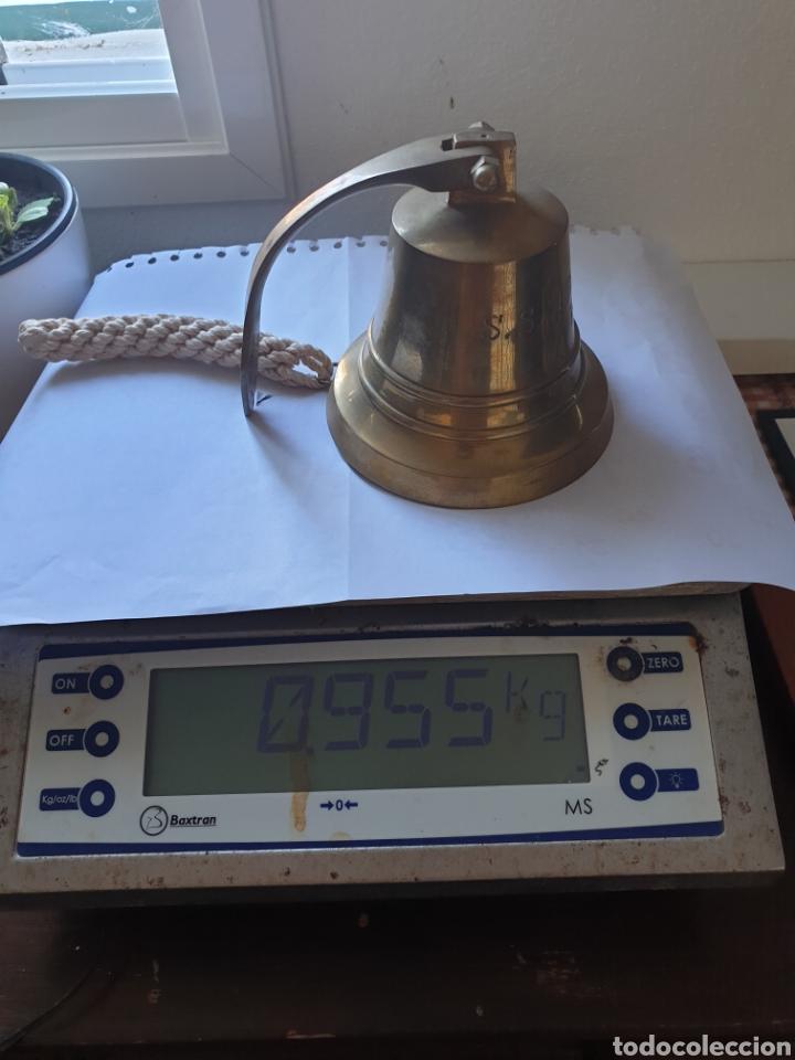 Antigüedades: Campana de bronce 1930 L Atlantique Replica - Foto 4 - 236447535