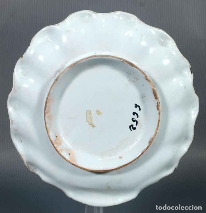 Antigüedades: Mancerina en loza de Alcora decoración floral siglo XVIII - Foto 4 - 236448005
