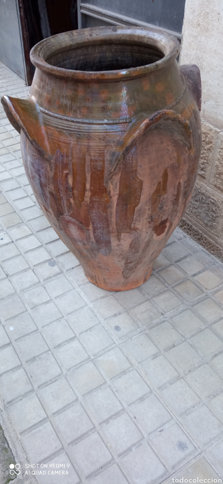 Antigüedades: Antigua orza o tinaja de guadix 83 cm. - Foto 3 - 236457435