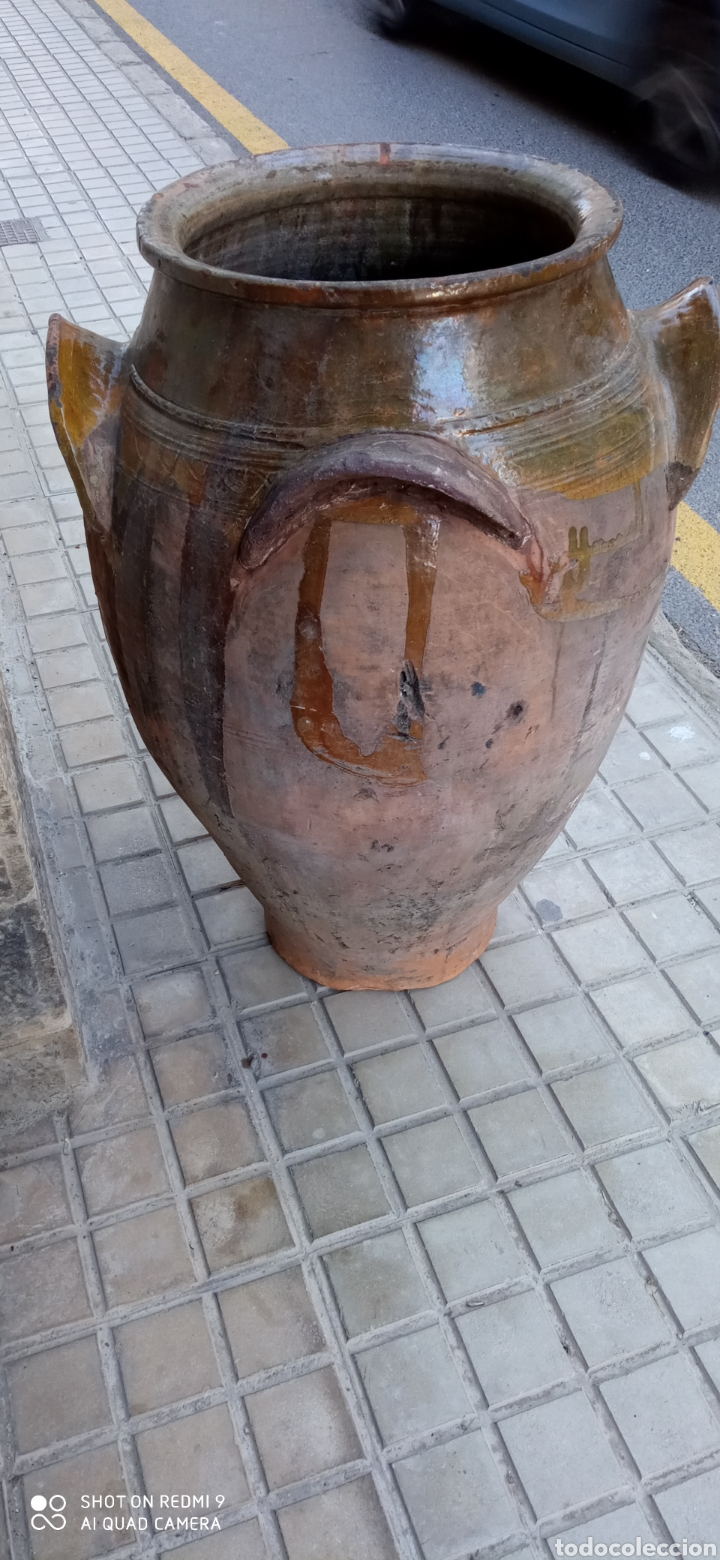 Antigüedades: Antigua orza o tinaja de guadix 83 cm. - Foto 5 - 236457435